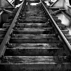 verlaten treinspoorbrug