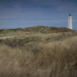 Duinen met vuurtoren Denemarken
