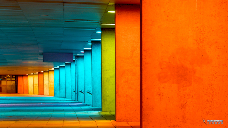 Rotterdam - Netherlands Architecture Institute at night