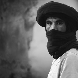 Berber in black and white