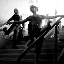 ala barre dans l'escalier