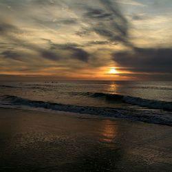 Hargen aan Zee zonsondergang