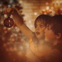 De eerste kerstsfeer foto
