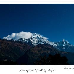 Annapurna South by Night