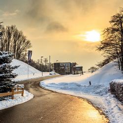 De weg naar Snow World