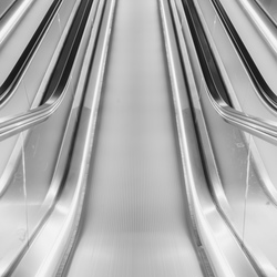 Roltrap in Amsterdam metrostation