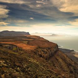 Mirado del Rio op Lanzarote, 's avonds een geheimzinnig, verlaten oord.