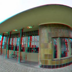 Maastunnel Rotterdam 3D Fish-eye