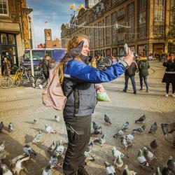 Selfie met de duif