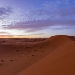 Duinen in de Merzouga woestijn