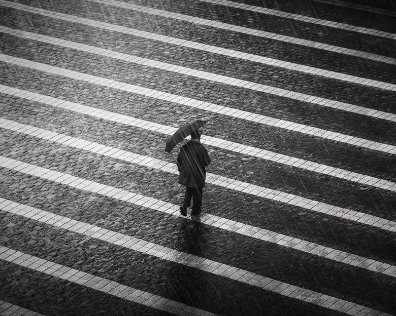 pouring rain -