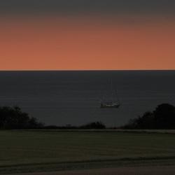 Ondergaande zon in Denemarken