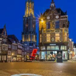 Dom vanaf de Stadhuisbrug - Utrecht