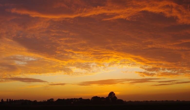 Avondschemering - De foto is genomen in de polder van Sommelsdijk(Zuid-Holland) op een zomeravond