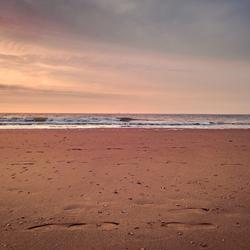 Voetstappen op het strand....