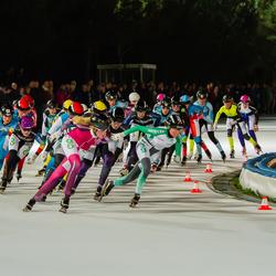 Marathon schaatsen.