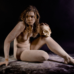 Pagan woman and scull 105