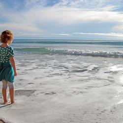 Giulia aan zee