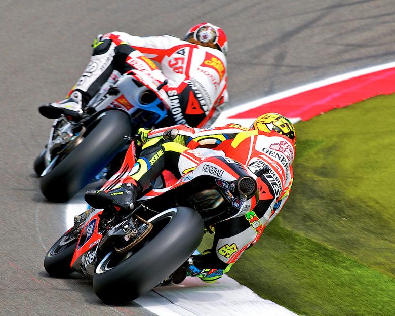 Valentino vs Marco - Tijdens de motogp Assen.