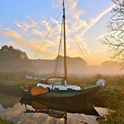 Langs het kanaal in Friesland