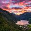 Zonsondergang in het Geiranger Fjord