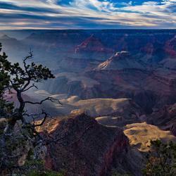 Grand Canyon in avondlicht