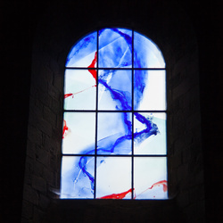 Glas in loodraam Kerk in Le Puy