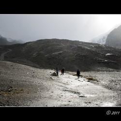Op weg naar de gletsjer