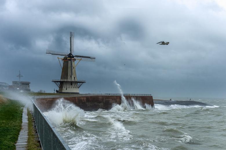 Storm Bella in Vlissingen -