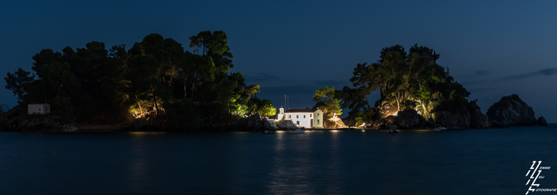 eiland in de nacht