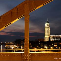 Ijsselbrug en Lebuinuskerk Deventer Elles van den Broek