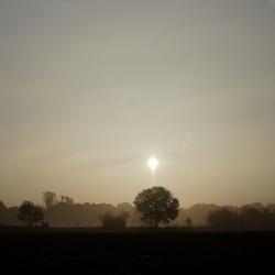 Een prachtige mistige morgen