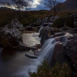 Focus on Etive Mor waterfall