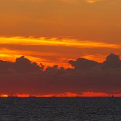 Panorama van de zonsondergang