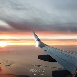 Sunset op 11.000ft