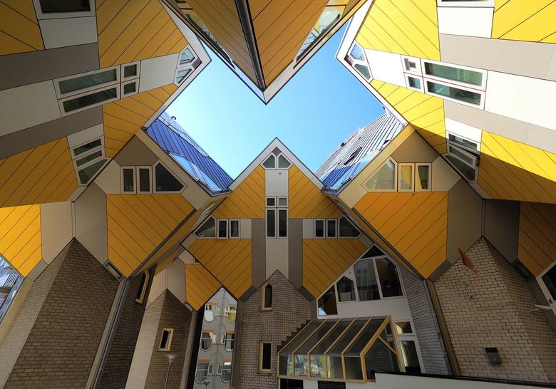 Kubus - De wonderlijke kubus woningen in Rotterdam..Architectuur ten top