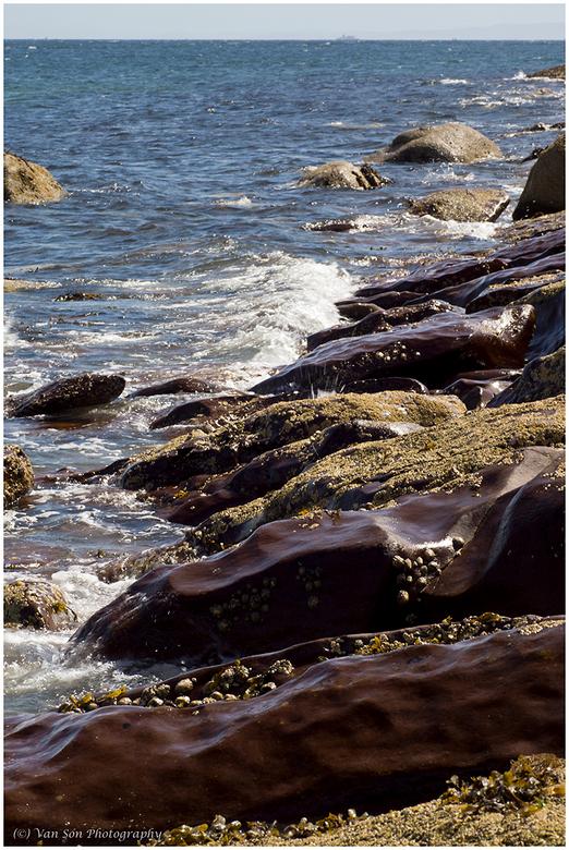 Arran - Weer een ander soort rotsen aan deze kust.