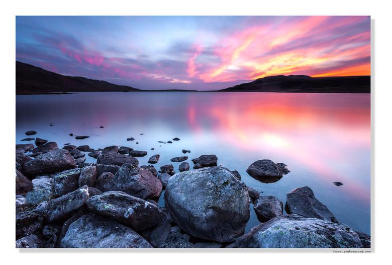 Zonsondergang Lake District - Op de laatste avond van een week Lake District werden we getrakteerd op een hele mooie zonsondergang.<br /> Deze foto i