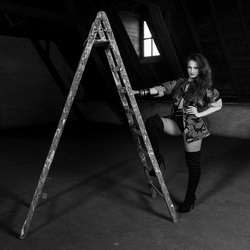 Linda and the ladder