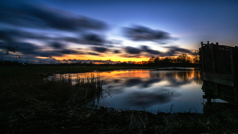 Zonsondergangs Biesland