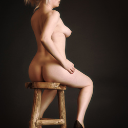 Daisy on a stool