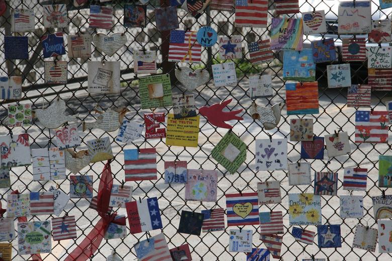 Memorial 11 September - Memorial hek voor 11 september in New York