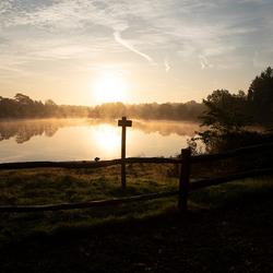 Vogelmeer in Den Treek Henschoten bij dageraad.