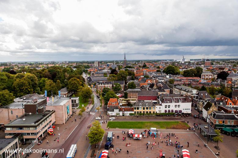 Uitzicht van de Oldehove in Leeuwarden - 201408314030 Uitzicht van de Oldehove in Leeuwarden