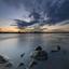 Net na zonsondergang aan de IJssel