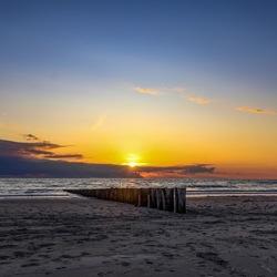 Sunset op Ameland