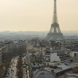 Parijs - Eifeltoren vanaf de Arc de Triomphe