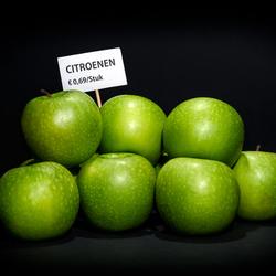 Appels voor citroenen verkopen