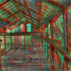 Old Factory HDR Anaglyph 3D