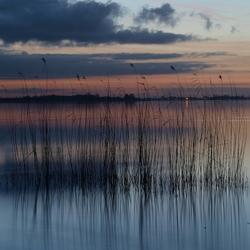 Schildmeer bij avondlicht